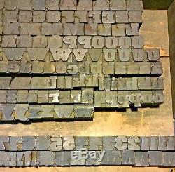 194 Type De Typographie Bois Bloc Supérieur Inférieur Lettres Nombres Punct. 11/16