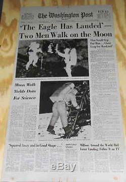 1969 Plaque D'impression En Aluminium Pour Journaux The Washington Post The Eagle Has Landing