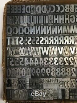 20th Century Extra Bold Cond. Type D'impression De Caractères Typographiques 60 Pt