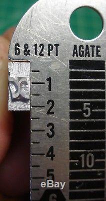 24 Points Police De Caractères En Métal De Type Typographique Style Gothique Non Identifié Tout Neuf