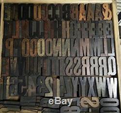 2 1/2 Hamilton Gothique Bois Type 15 Ligne Vandercook Letterpress Impression 80pcs