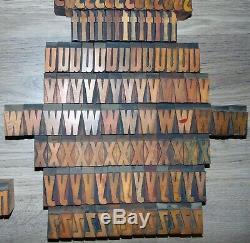 336 1 5/16 Bois Typo Blocs Type D'impression Minuscules Alphabet
