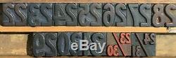 33 Type D'imprimerie Typographique En Bois Numéro De Bloc Calendrier Complet 1 5/16 X 1 7/16