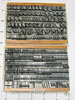 36 Pt Letterpress Type. Trafton Script (rare)