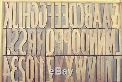 3,45 20 Ligne Hamilton Bois Type Vandercook Letterpress Impression 50pcs