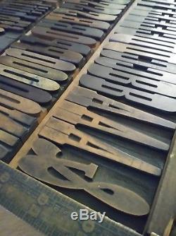 3 Antique Bois Type XX Condensé Vandercook Letterpress Presse D'impression 18line