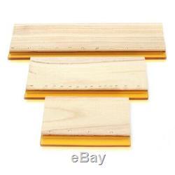3 Pièces Sérigraphie Raclette Encre Scaper Outils Scratch Board 16cm 24cm 33c