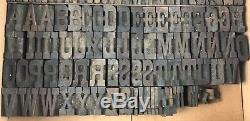 450+ Pcs Imprimantes Typographiques En Bois Vintage Blocs Et Accessoires Lot 3498