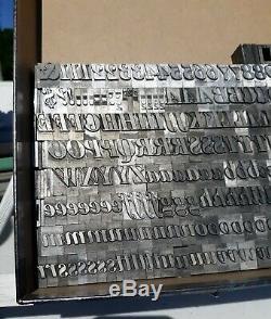 60pt Huge Police Bodoni Italic Caractères Gras Typographiques Métalliques Typeset 14 Lbs