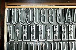 72pt Allongée Shaded Romain. Stephenson Blake Fdry. Type De Letterpress