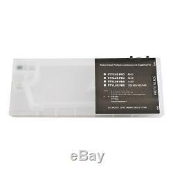 8pcs Cartouches D'encre De Recharge Epson Stylus Pro 4800 Avec 4 Entonnoirs USA Stock