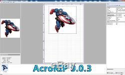 Acrorip V 9.0.3 2017 Imprimante Dtg Acro Rip Logiciel D'impression Epson R3000 Sc- P600