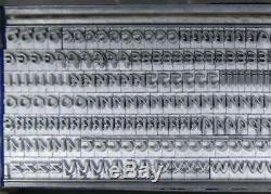 Alphabet Métal Letterpress Type De 18pt Mystère Celtic Onciale Caps Mm90 3 #