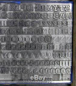 Alphabets En Métal Type D'impression Typographique Import Bauer 24pt Beton Open Ml85 4 #