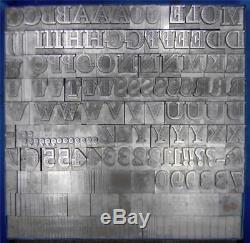 Alphabets En Métal Type D'impression Typographique Importation Sb 60pt Mole Foliate Ml72 16 #