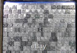 Alphabets En Métal Type D'impression Typographique Importé Au 16pt Largo Open Ml73 5 #
