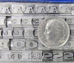 Alphabets Letterpress Type D'impression D'importation Berthold 18pt Primus Sf Mm15 6 #