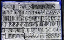 Alphabets Letterpress Type D'impression Import Berthold 24pt Solemnis Ml70 4 #