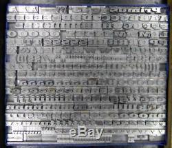 Alphabets Letterpress Type D'impression Importation Berthold 18pt Primus Lf Mm16 6 #