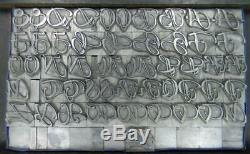 Alphabets Letterpress Type D'impression Importer Ta 52pt Rhapsodie Swash Caps Mm61 8 #