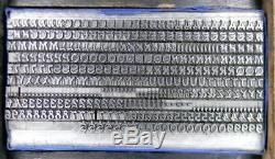 Alphabets Metal Letterpress Type D'impression Antique 12pt Mandarin Ml58 3 #