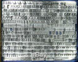 Alphabets Métal Letterpress Type D'impression Importation Mtf 18pt Perpetua Gras Mn07 6 #