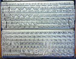 Alphabets Métal Letterpress Type D'impression Importation Sb 18pt Chisel Large Mm82 12 #