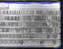 Alphabets Metal Letterpress Type D'impression Importation Stempel 24pt Sapphire Ml40 5 #