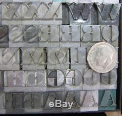 Alphabets Métalliques Type D'impression 36press Ultra Bodoni Condensed C23 13 #