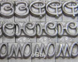 Alphabets Métalliques Type D'impression Typographique Atf 12pt Civilite Ml17 6 #