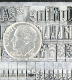 Alphabets Métalliques Type D'impression Typographique Atf 24pt Whedons Gothic Outline Mm46 6 #