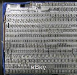 Alphabets Type De Métal Typo Impression 18pt Goudy Ouvert Mn24 7 #