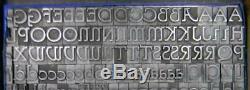 Alphabets Vintage Lettres Typographiques Métalliques Type Bb & S 36pt Parsons Ml41 9 #