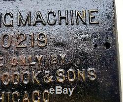 Années 1930, Vandercook, Fils, Vieux, Style, Proving, Machine 219, Chicago, Fer, Plaque, Porte
