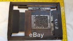 Antique Letterpress 8x12 C & P Press Chase Avec Le Jeu De Main Printmaker's Ditty Z133 14 #