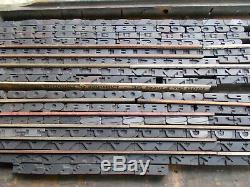 Antique Letterpress Type De Blocs De Bois Alphabet-complete Set 500 Plus Blocs
