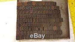 Antique Letterpress Une Ligne De Bois Très Rare Wm H Page 4 Lignes (2/3 Ou 48pt) Q88