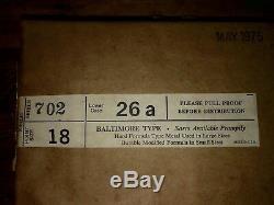 Baltimore Type 18 Série 702 Points Minuscules 26a Typo