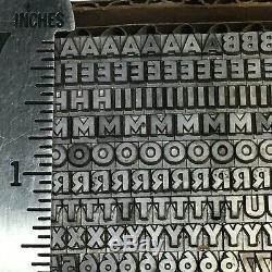 Bernhard Gothic Extra Heavy 14 Pt Typo Vintage Type Plomb Métal