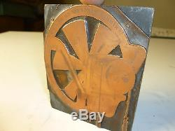 Bloc D'impression De Plaque Industrielle En Cuivre Kimble Electric Co.