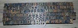 Bois Letterpress Type D'impression Lettres 120 Pièces 11/16 Grand