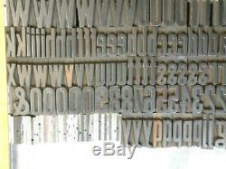 Capsules En Bois De Style Typographique Gothique Condensé De 6 Lignes, L. C, Figs. 235 Pcs Freeship