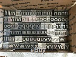 Caractères Typographiques Métalliques De 5/8 Pouces, Majuscules Et Minuscules, Chiffres Et Signes De Ponctuation