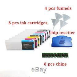 Cartouche D'encre Rechargeable Vide Pour Epson Stylus Pro 4880 + Resetter De Puce Gratuit