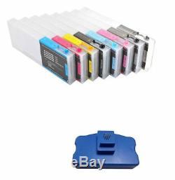 Cartouches D'encre Rechargeables Pour Epson Stylus Pro 7800 9800 8pcs + Gratuit Puce Resetter