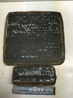 Century Schoolbook 10 Pt Letterpress Type D'impression Impression Plomb Métallique Police
