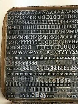 Cheltenham Bold 24 Pt Typographie Type Vintage Métal Plomb Police De Caractères