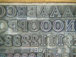 Cheltenham Inline 14 Pt. Type Letterpress Métal Imprimantes Type