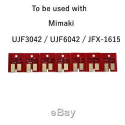 Chip Permanent Pour Mimaki Lf140-0728 Ujf3042 / Ujf6042 Uv Cartouche Cmyklclmwh