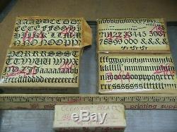Cloister Black 48 Pt. Type Letterpress Métal Imprimantes Type